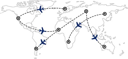 Rotte e combinazioni di voli in tutto il mondo