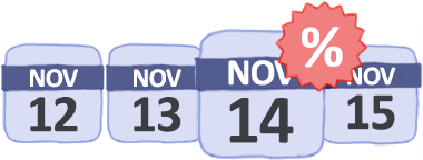 Calendario delle prossime offerte e voli low cost