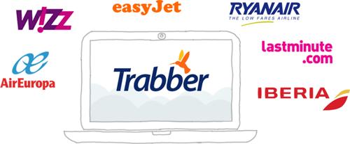 Compagnie aeree e agenzie di viaggi fornitori di Trabber
